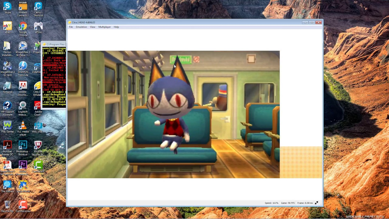 Animal Crossing New Leaf Citra 3DS Emulator Running Well