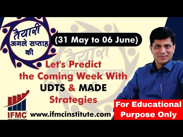 तैयiरी अगले सप्ताह की- 31 May to 06 June ll Everyday Is A New Day In The Stock Market