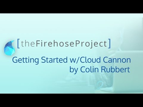 Getting Started With Cloud Cannon