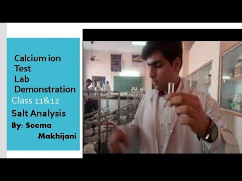 Lab Test For Calcium Ions