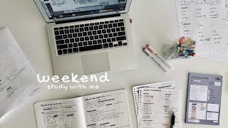 Weekend Study With Me Vlog || revisign