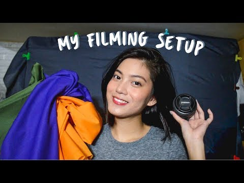 My Filming Setup On A Budget (Murang Backdrops, Equipment, Editing Style) Philippines