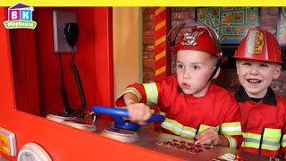 Pretend Play Fire Truck Rescue Missions   Fire Safety for Kids screenshot 5
