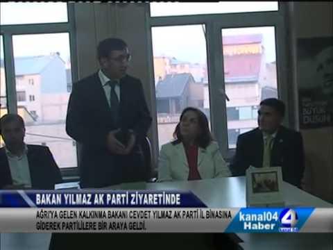 Kalkınma Bakanı Yılmaz Ak Parti Ağrı İl Başkanı Av. Abbas Aydın'ı Makamında Ziyaret Etti