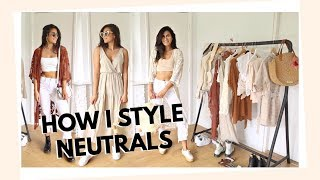 16 OUTFITS IN NEUTRALE TINTEN