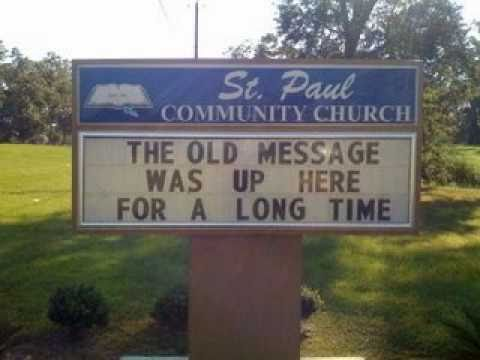 Church Signs Sayings