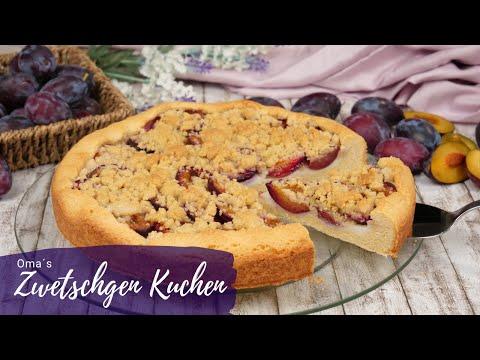 Omas Zwetschgenkuchen Rezept mit Streuseln & Pudding / Pflaumenkuchen backen