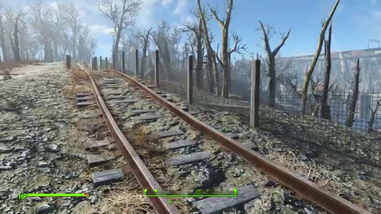 Fallout 4 - Building a fence on a slope - YouTube