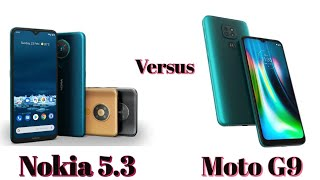 Nokia 5.3 vs Moto G9 :- Which Stock Android phone is better?