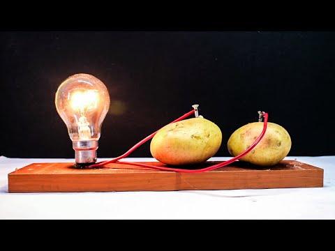 Free Energy Light Bulbs 220v using Potato(read description)
