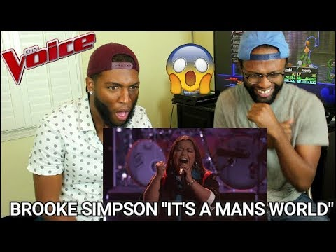 The Voice 2017 Brooke Simpson  The Playoffs: Its a Mans Mans Mans World REACTION