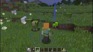 Minecraft How to Breed GREEN Sheep (Bonus: Fluorescent Lime Babies!)