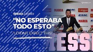 """Leo Messi tras recibir la 5° Bota de Oro: """"No esperaba esto cuando empecé"""""""