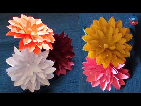 How to Make Beautiful Paper Flowers - DIY Paper Flowers Step by Step