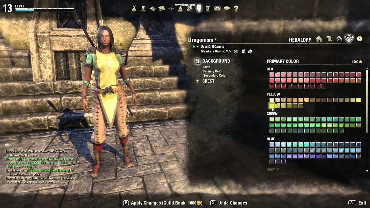 Teso Dragonism Guild Tabard Design Youtube
