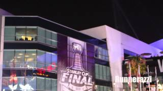 drone knocked down at staples center during la kings stanley cup celebration
