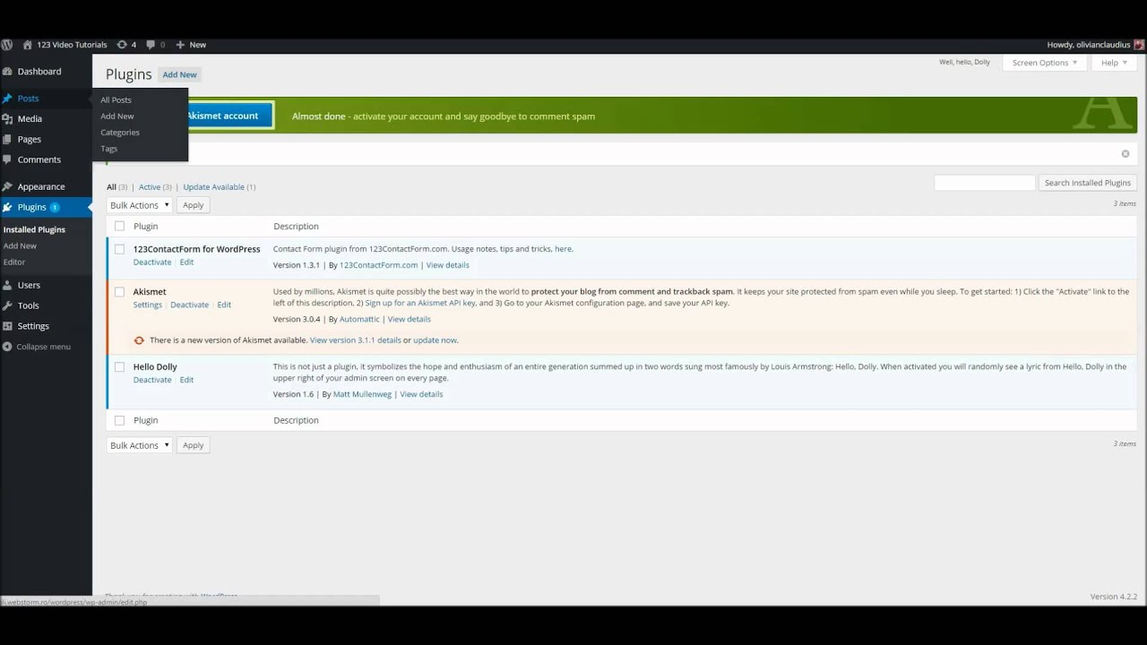 How to install the 123FormBuilder plugin for WordPress Tutorial