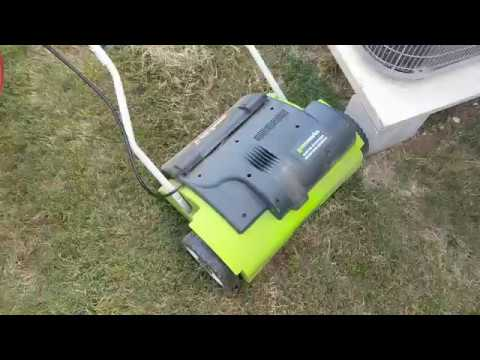 Review Greenworks 27022 10 Amp 14 Corded Dethatcher
