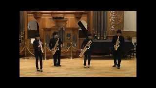 ギリシャ組曲、サックス四重奏での演奏。Suite Helénica.