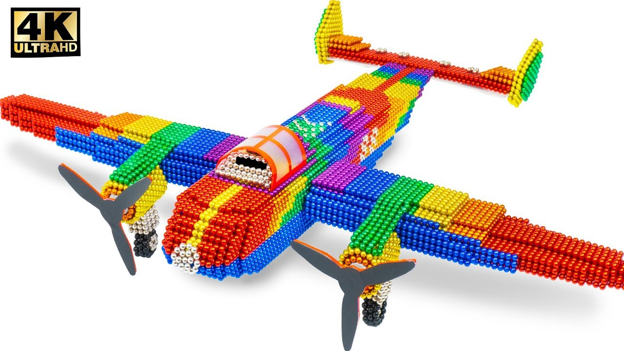 DIY - How To Make Amazing Color Airplane From Magnetic Balls (Satisfying Videos) - Magnet Creative