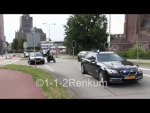 3 auto's Dienst Bewaken en Beveiligen (DBB) met spoed door Arnhem