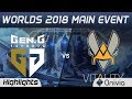 GEN vs VIT Highlights Worlds 2018 Main Event Gen G Esports vs Team Vitality by Onivia