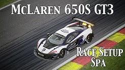 assetto corsa (ps4) - mclaren 650s gt3 @ spa 2:15.527 + setup (ds4
