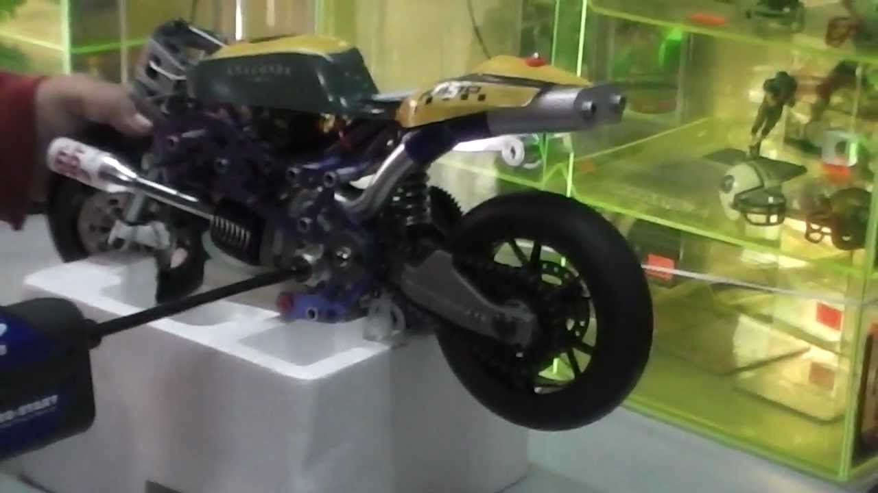 Starting My Nitro Bike R C Arrancando Mi Moto A Control