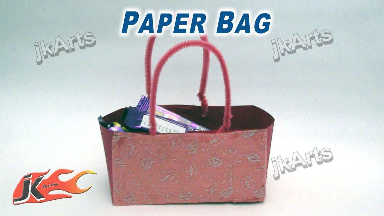 Paper Bag Craft Ideas For Kids Part - 40: DIY Paper Bag Making (Easy Craft ) - JK Arts 273 - YouTube
