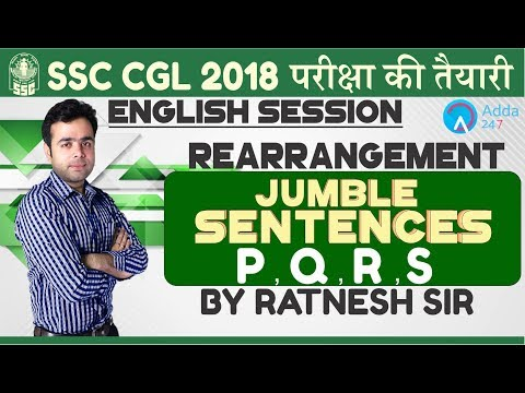SSC CGL|REARRANGEMENT | JUMBLE SENTENCES | ENGLISH | Ratnesh sir