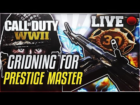 GRINDING FOR PRESTIGE MASTER! ALL-NIGHTER (Call Of Duty WWII)  Interactive Streamer| Road To 400 SUB
