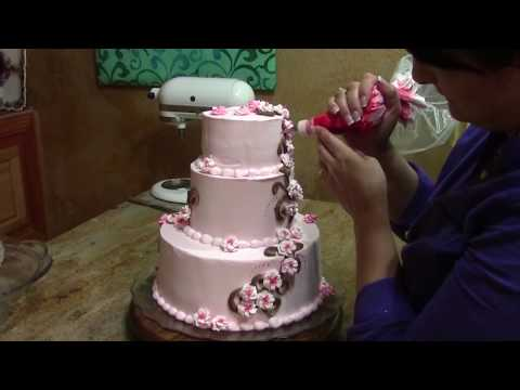 Cherry Blossom Wedding Cake Decorating Buttercream