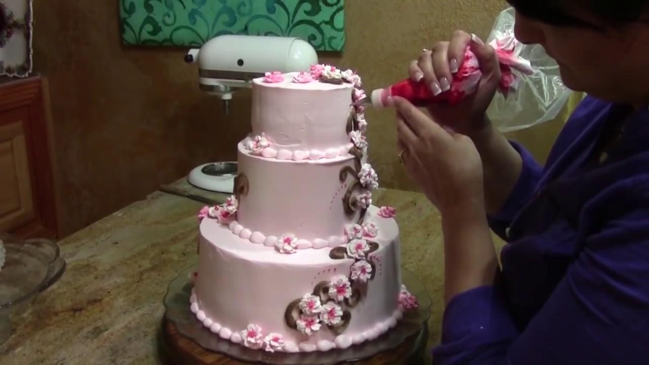 Cherry Blossom Wedding Cake Cake Decorating Youtube