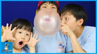 풍선껌 왓따~ 버블껌 풍선 크게 불기 챌린지 승자는? 벌칙은 외모지상주의 (귀요미 주의) ♡ Bubble Gum Challenge   말이야와친구들 MariAndFriends