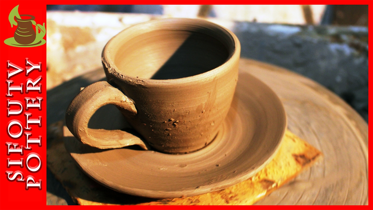 pottery throwing how to make a pottery mug with plate for greek