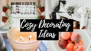 ✨COZY DECORATING TIPS 🏡 WARM AND COZY DECORATING IDEAS 2019 🌿