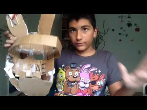 (Outdated) How to make a cardboard springtrap mask