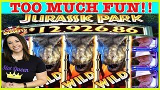 🦖NEW JURASSIC PARK SLOT 🦕 BONUS, FEATURES AND TONS OF FUN ‼️