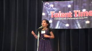 Talent Time 2012 - Malayalam Poetry recitation - Shreya