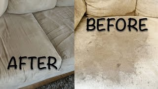 HOW TO CLEAN YOUR MICROFIBER COUCH  WINDEX   GLASS CLEANER