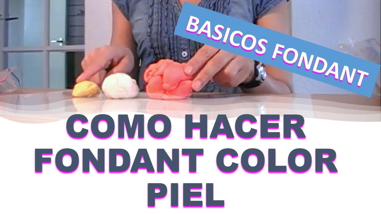 Como hacer el fondant color piel youtube - Como hacer colores ...