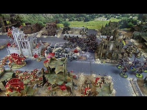 Warhammer 40K Battle Report Orks vs Tyranids Cities of Death
