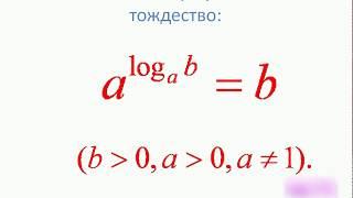 Понятие логарифма  Основное логарифмическое тождество