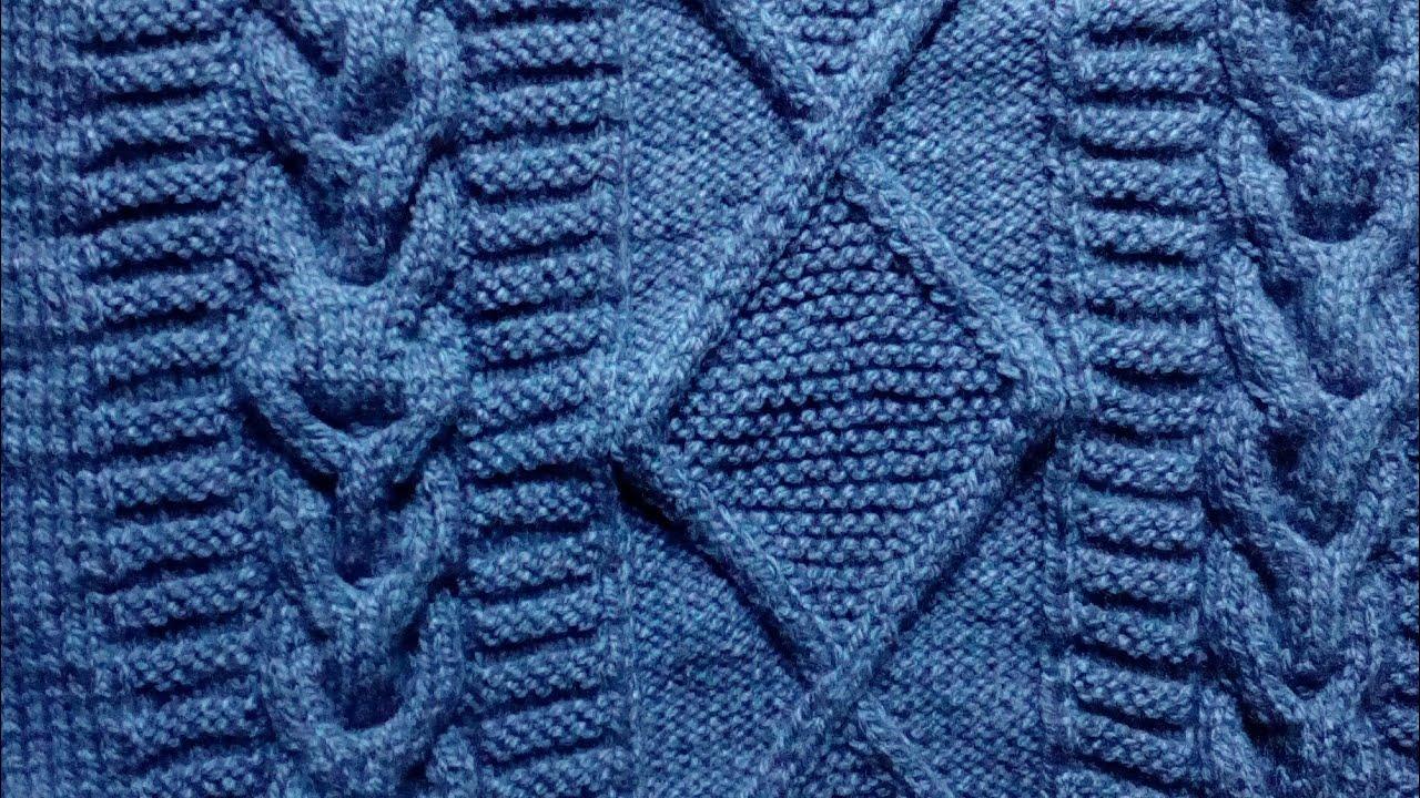 662d6559257d3 suéter para hombre talla L - tejido en dos agujas - YouTube