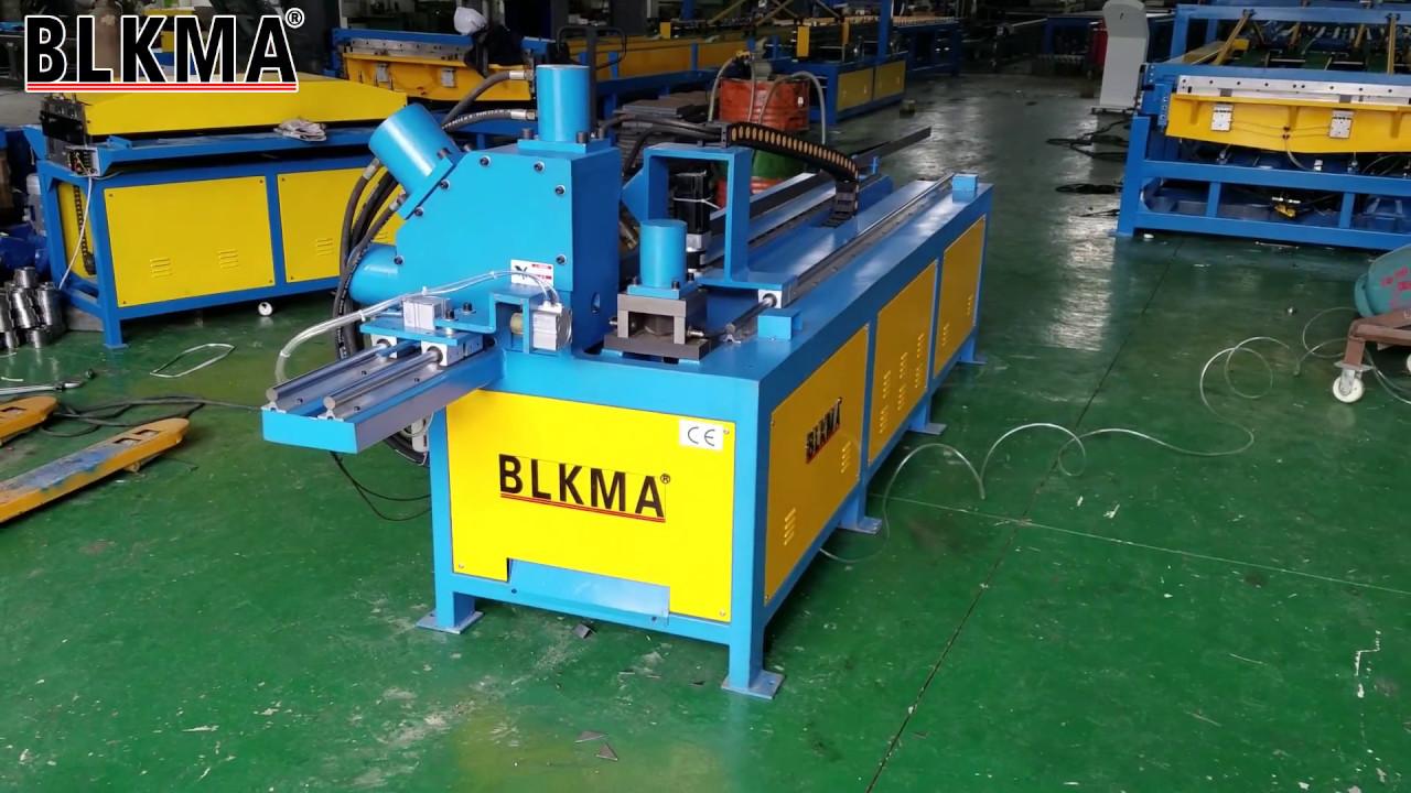 BLKMA® automatic metal sheet rectangular duct angle steel flange production  line