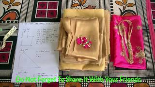 Floor length yoke full gown cutting and stitching with body measurements easy method