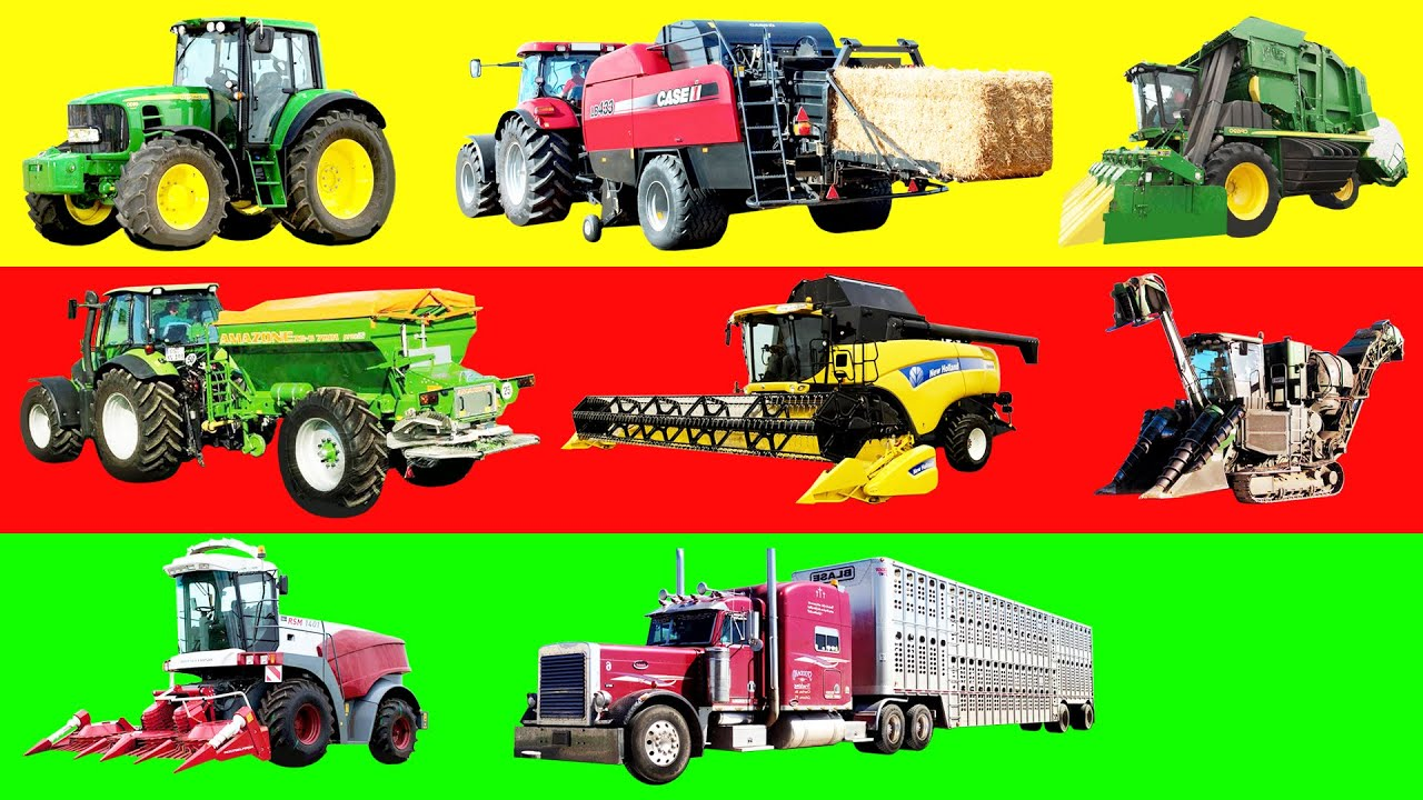 Names Of Parts Of Farm Tractors : Learning farm vehicles and equipment names sounds for