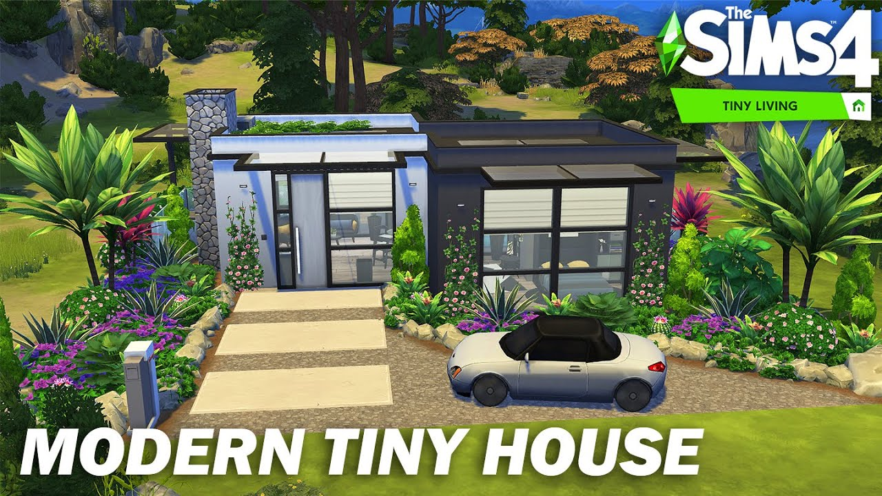 Modern Tiny House  Sims 24  Stop Motion  No CC