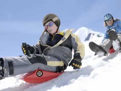 Zipfy Mini Luge Snow Sled Mountain Footage Youtube