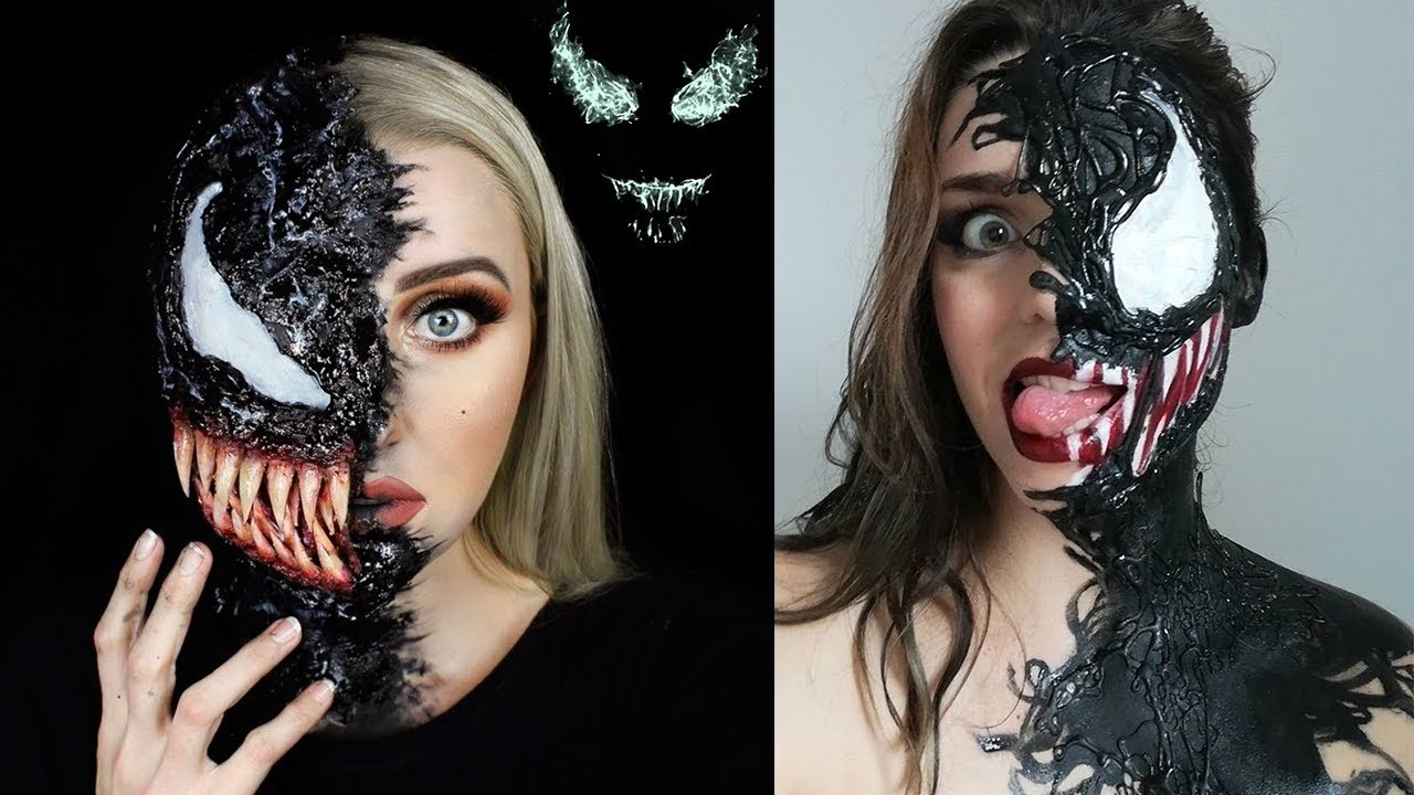 New Halloween Makeup Tutorials 2018 , VENOM 👽!!! Special Effects Makeup  Transformations